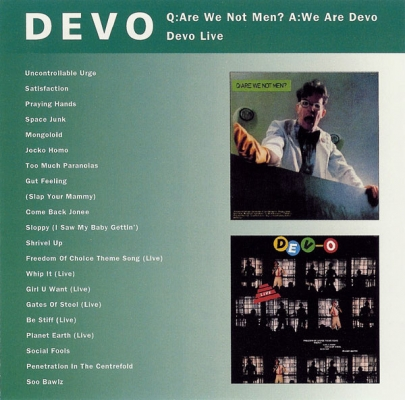 Obrázek pro Devo - Q:Are We Not Men? A:We Are Devo / LIVE